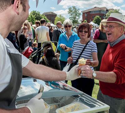 Man getting icecraem at Fleet Food Festival