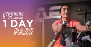 Free one day pass at Anytime Fitness Fleet