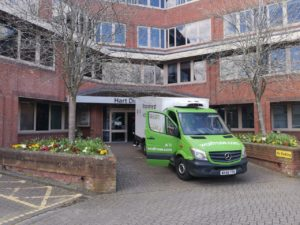 Waitrose Van Delivery Fleet Hampshire