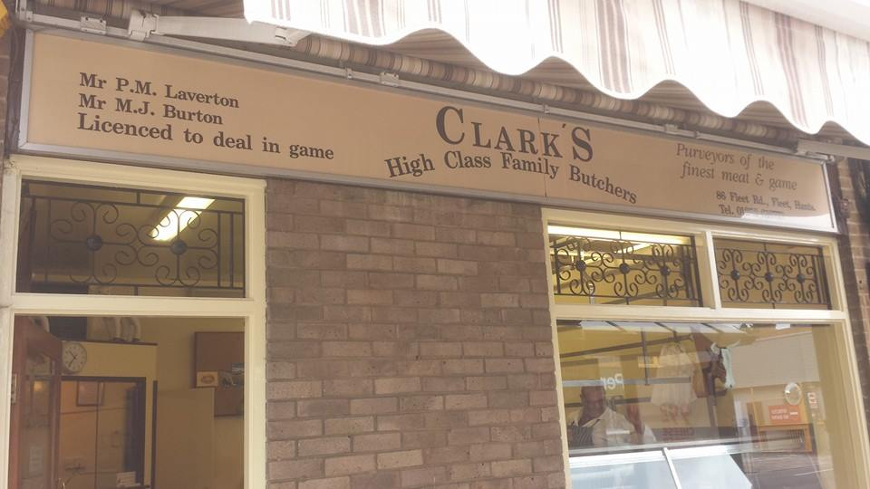 clark's butchers shop front