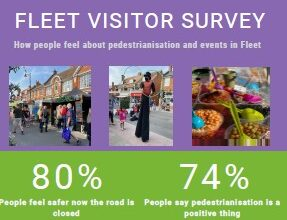 Fleet trial pedestrianisation – visitor survey results