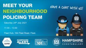 Fleet Police at the Hub in Fleet, Hampshire