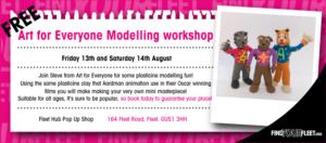 Clay modelling workshop - free activity by Fleet BID