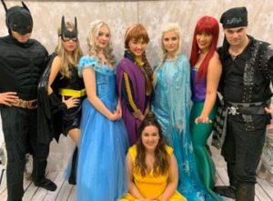 Princess and Superhero takeover at the Fleet Hub, Fleet, Hampshire
